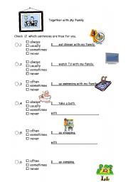 English worksheets: the Family worksheets, page 415