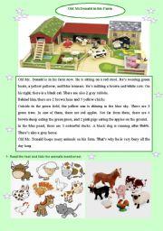 English Worksheets: Old MC Donald�s Farm