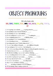 subject and object pronouns worksheets for 3rd grade english worksheetspersonal pronouns. Black Bedroom Furniture Sets. Home Design Ideas