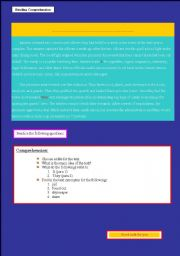 English worksheet: Comprehension