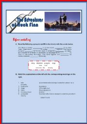 English Worksheets: The Adventures of Huck Finn - a film