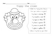 English Worksheets: Yippy the Clown
