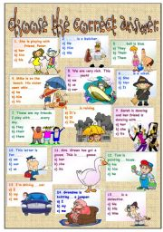 English Worksheet: subject, object and possessive pronouns