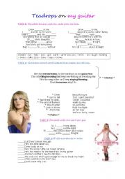 English Worksheets: Teardrops on My Guitar - Taylor Swift