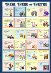 English worksheet: THEIR, THERE or THEY´RE - MULTIPLE CHOICE