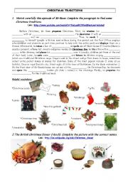 English Worksheets: Cristmas traditions