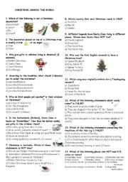 Christmas Traditions Around The World Worksheets Free Worksheets ...
