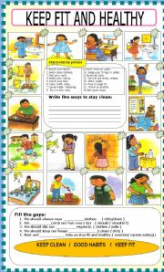 English Worksheets: HEALTH