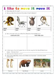 English Worksheets: I like to move it move it