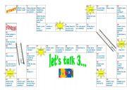 English Worksheets: Let�s talk 3