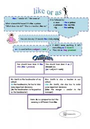 English Worksheets: like or as?