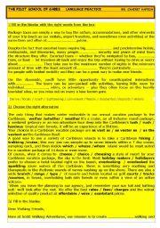 English Worksheet: travel and tourism language practice