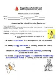 English Worksheets: Appositive Practice