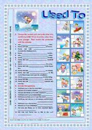 English Worksheets: USED TO - Exercises