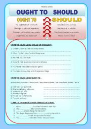 math worksheet : modal verbs should ought : Worksheet Modal Verb ...