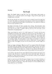 English Worksheets: Fat Frank_Reading