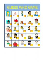 Juicy image regarding guess who game printable