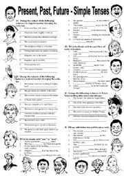 English teaching worksheets: Future simple