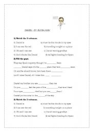 English Worksheets: ELTON JOHN - DANIEL