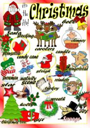 English Worksheet: CHRISTMAS PICTIONARY (Part 3 of a set)