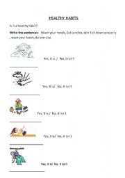 Printables Healthy Habits Worksheets english teaching worksheets healthy habits habits