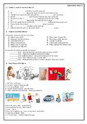 English Worksheet: Can, be able to (expressing ability)