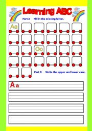 Learning Abc Aa Zz Exercise