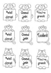 English Worksheet: stickers to motivate students