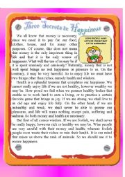 Reading - Three Secrets to Happiness