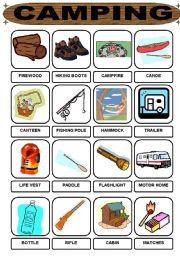 English Worksheet: Camping vocabulary