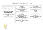 English Worksheets: English club flyer