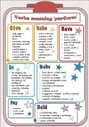English Worksheets: Verbs meaning