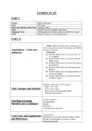 English worksheets: Lesson Plan (Numbers)
