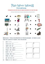 English Worksheets: Fun With Words