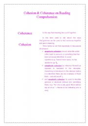English Worksheets: Cohesion & Coherence on Reading Comprehension