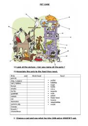 English Worksheets: Pet care