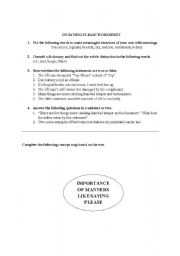 English Worksheets: On Saying Please