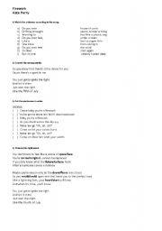 intermediate esl worksheets kate perry firework. Black Bedroom Furniture Sets. Home Design Ideas