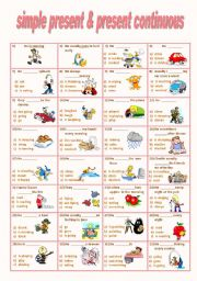 English Worksheet: simple present , present continuous quiz
