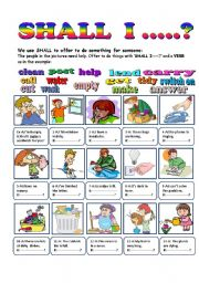 English Worksheet: SHALL I ------?