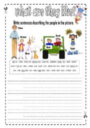 English Worksheet: Describin People Appearance - physical appearance - INTERMEDIATE