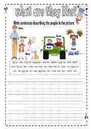 English Worksheet: Describin People Appearance - physical appearance - INTERMEDIATE
