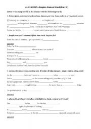 English Worksheets: Alicia Keys Part 2