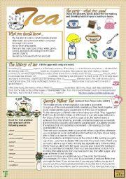 English Worksheet: Tea