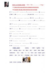 English Worksheets: SONG by Norah Jones