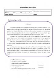 Worksheet 7th Grade English Worksheets english teaching worksheets 7th grade written test grade