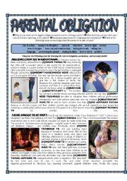 English Worksheet: Parental Obligation - Modals of permission/obligation/necessity - Kids and Parenting