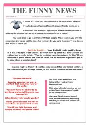 English Worksheets: 42 the funny news