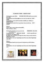 English Worksheets: closing time - green day