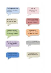 English Worksheet: Hotel Complaints